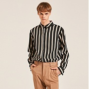 얀13 AVANT-GARDE STRIPE SHIRTS_BLACK