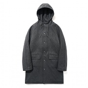 파르티멘토 Wool Hooded Coat Dipgray