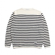 (단독가)세인트페인 SP 17S BASIC STRIPE KNIT-WHBK