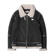세인트페인 SP HACKNEY SUEDE SHEARLING JKT-BLACK
