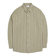 티알마크 ST_002 PIN STRIPE SHIRT BEIGE