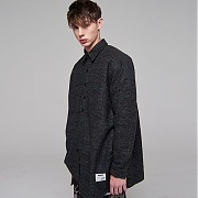 매드마르스 OVERSIZED WOOL CHECK SHIRTS