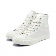 [Bata Bullets] Leather High Top (White)