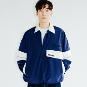 오버사이즈해프닝 KANORAK PULLOVER JACKET NAVY