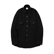 파르티멘토 Unbalance Pocket Shirts Black