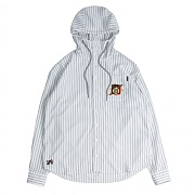 로맨틱크라운 Striped Hood Shirt_White