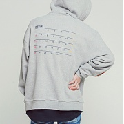로맨틱크라운 Ceremony Tape Hood Zip Up_Grey