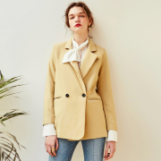 얀13 ROSE DOUBLE BLAZER_YELLOW