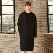 얀13 MERLIN OVER LONG COAT_BLACK