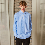 얀13 FROM OVERSIZE STRIPE SHIRTS_BLUE