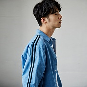 매드마르스 2 LINE DENIM SHIRTS_BLUE