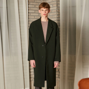 얀13 CLASSIC OVERSIZE LONG COAT_DEEP KHAKI
