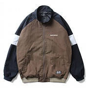 세인트페인 SP LOGO RAGLAN TRACK JACKET-BROWN