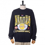 LA LAKERS WINNER TAKES ALL CREW SWEATSHIRTS - BLACK