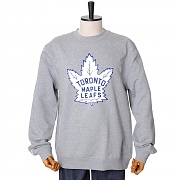 TORONTO MAPLE LEAFS TEAM LOGO CREW SWEATSHIRTS - GREY HEATHER