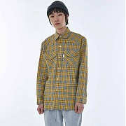 멜로이 UNISEX Hooda pocket Shirt MRT005 (Yellow)