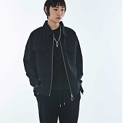 멜로이 UNISEX Eyelet Cotton Cover Jacket MRO001 (Black)