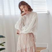 얀13 LUFF LACE BLOUSE_WHITE