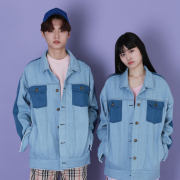 라잇루트 Colorblock Overfit Denim JK [서진영]