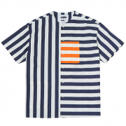 콰이어티스트 Vertical Stripe Collar-less 1/2 Cover (navy)